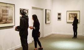 People enjoying the Art of Trustman Gallery